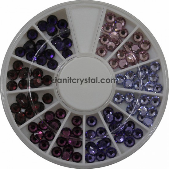 Swarovski Hotfix Crystals SS10 Purple Color Pack