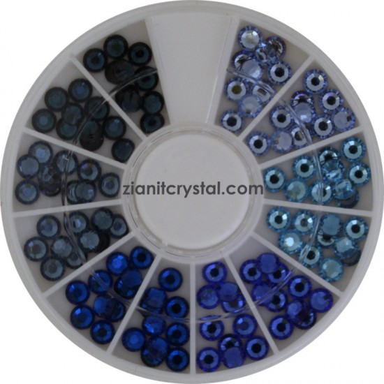 Swarovski Hotfix Crystals SS16 Blue Color Pack