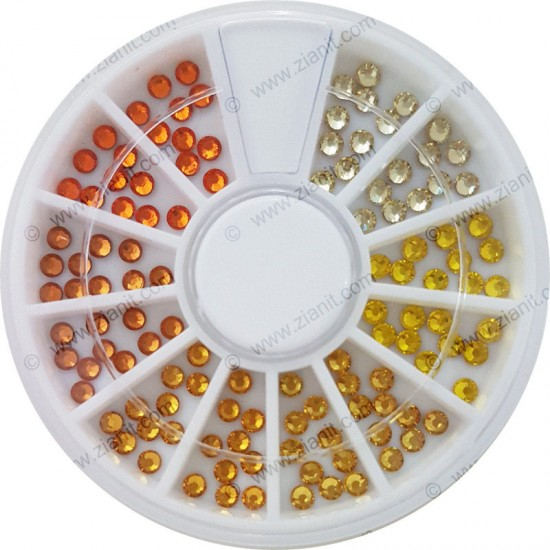Swarovski Hotfix Crystals SS10 Yellow & Orange Color Pack