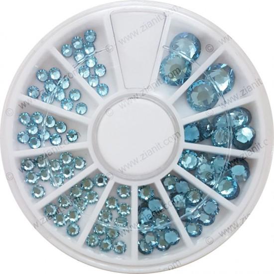 Swarovski Hotfix Crystals Aquamarine Color Multi-size Pack