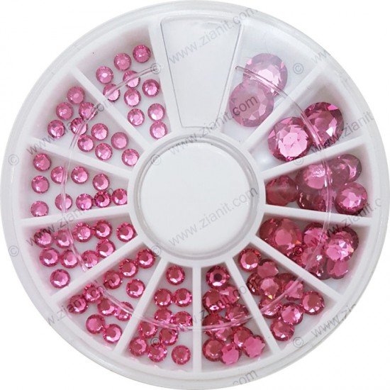 Swarovski Hotfix Crystals Rose Color Multi-size Pack
