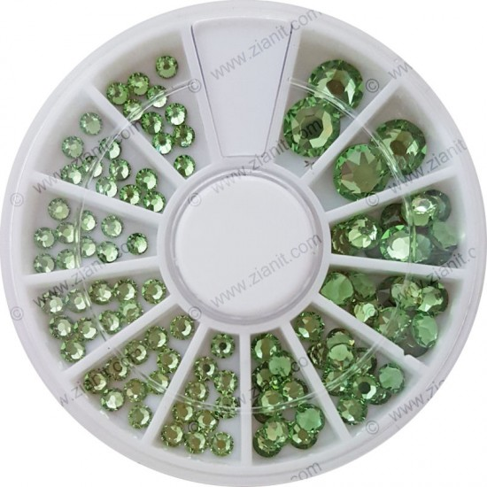 Swarovski Hotfix Crystals Peridot Color Multi-size Pack