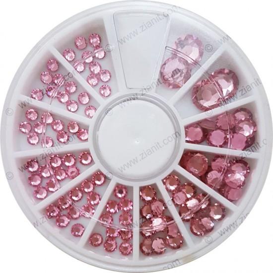 Swarovski Hotfix Crystals Light Rose Color Multi-size Pack