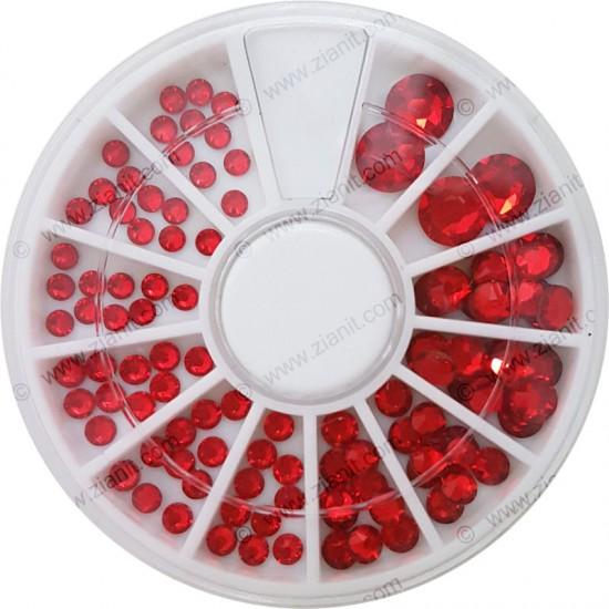 Swarovski Hotfix Crystals Light Siam Color Multi-size Pack