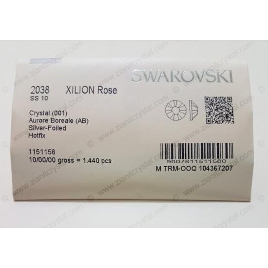 Swarovski 2038 Hotfix Crystals SS10 Crystal AB 1440 pcs