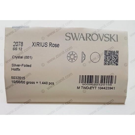 Swarovski 2078 Hotfix Crystals SS12 Crystal Color 1440 pcs