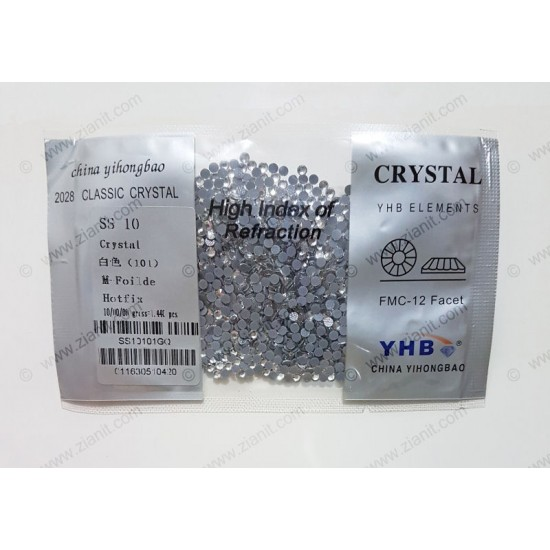 YHB Hotfix Crystals SS10 Crystal Color 1440 pcs