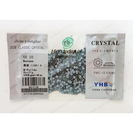 YHB Hotfix Crystals SS10 Montana 1440 pcs