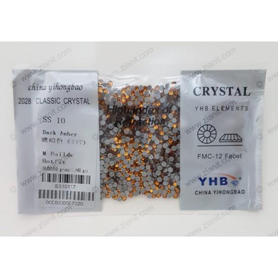 YHB Hotfix Crystals SS10 Dark Amber 1440 pcs