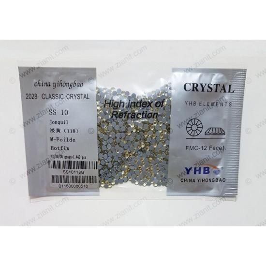 YHB Hotfix Crystals SS10 Jonquil 1440 pcs