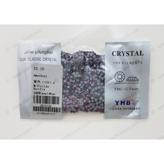 YHB Hotfix Crystals SS10 Amethyst 1440 pcs