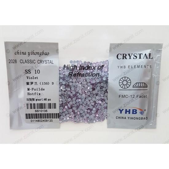 YHB Hotfix Crystals SS10 Violet 1440 pcs