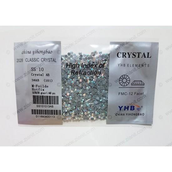YHB Hotfix Crystals SS10 Crystal AB 1440 pcs