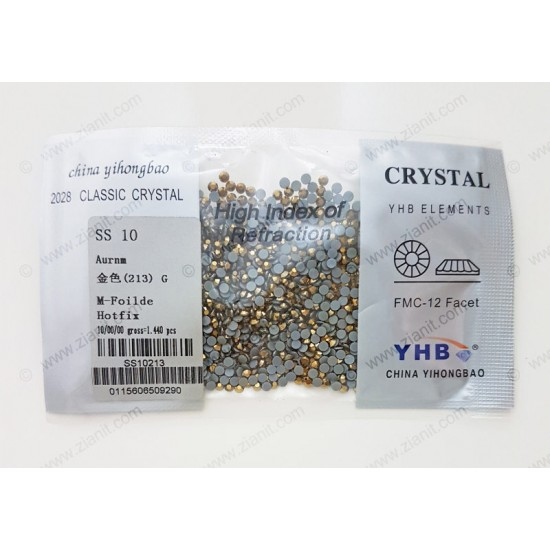 YHB Hotfix Crystals SS10 Aurum 1440 pcs