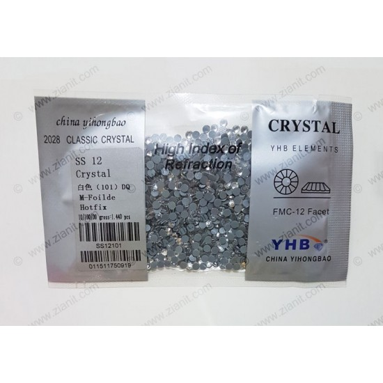 YHB Hotfix Crystals SS12 Crystal Color 1440 pcs