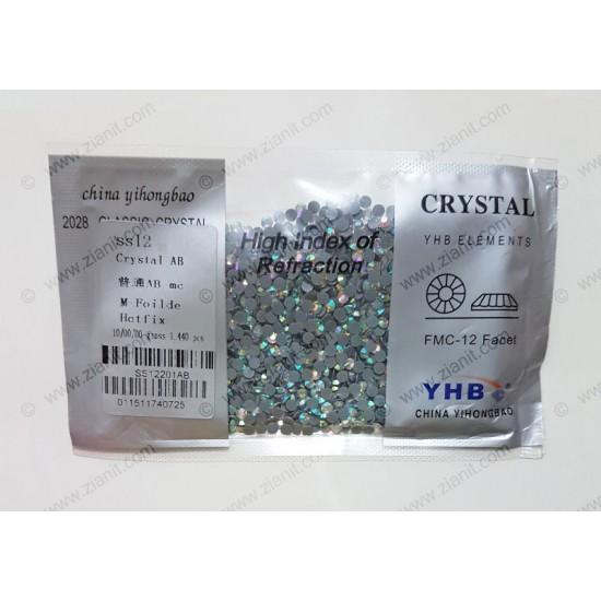 YHB Hotfix Crystals SS12 Crystal AB 1440 pcs