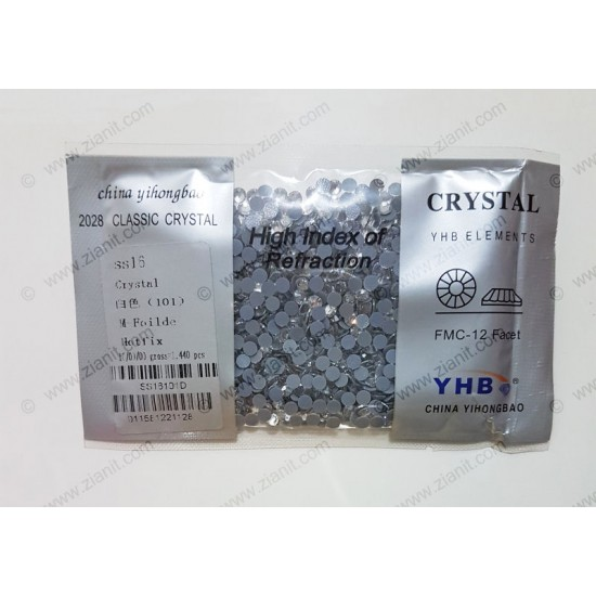 YHB Hotfix Crystals SS16 Crystal Color 1440 pcs