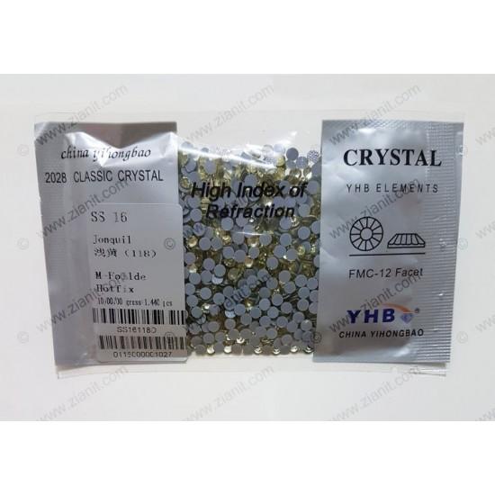 YHB Hotfix Crystals SS16 Jonquil 1440 pcs