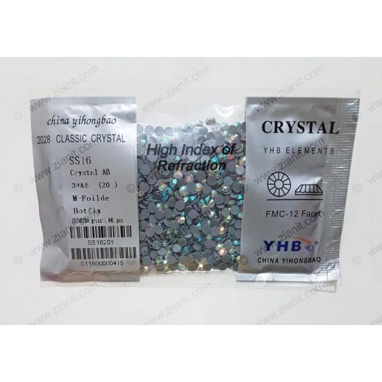 YHB Hotfix Crystals SS16 Crystal AB 1440 pcs