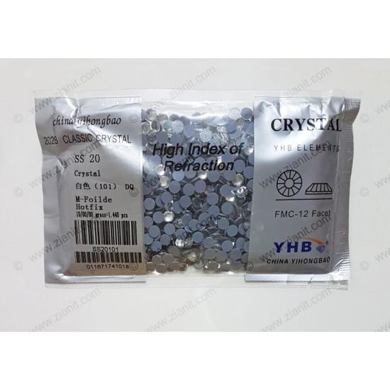 YHB Hotfix Crystals SS20 Crystal Color 1440 pcs