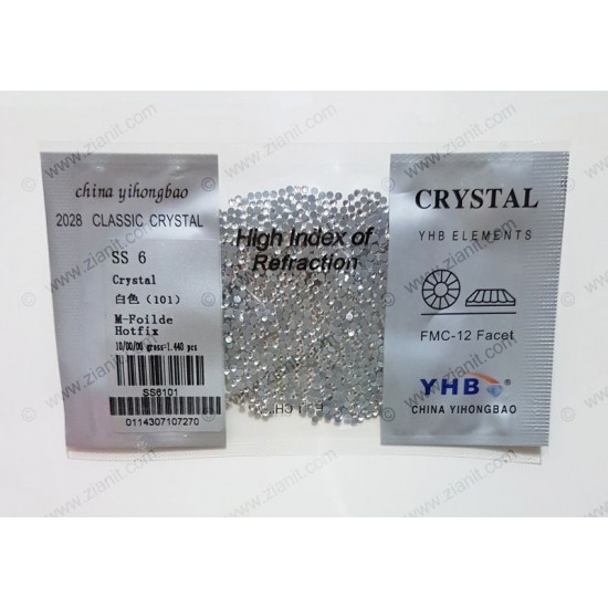YHB Hotfix Crystals SS6 Crystal Color 1440 pcs