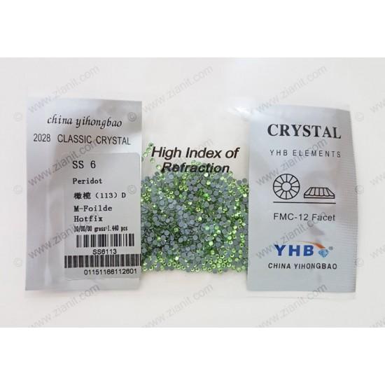 YHB Hotfix Crystals SS6 Peridot 1440 pcs