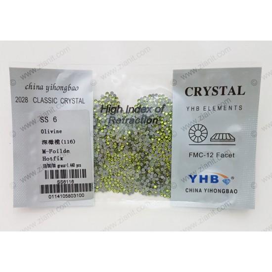 YHB Hotfix Crystals SS6 Olivine 1440 pcs