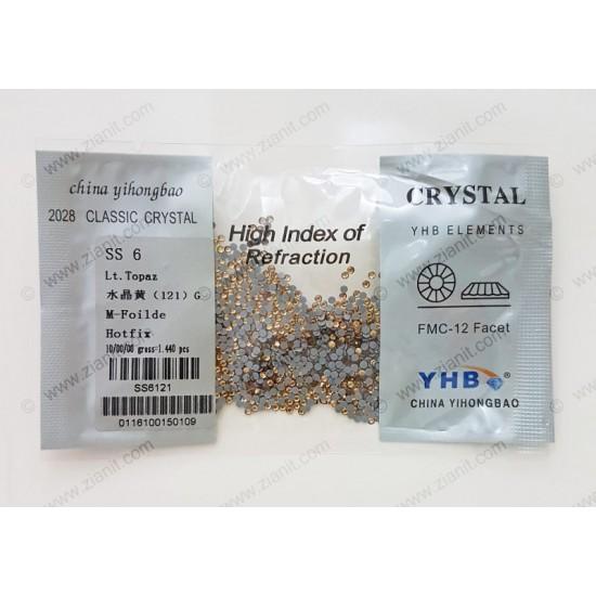 YHB Hotfix Crystals SS6 Light Topaz 1440 pcs