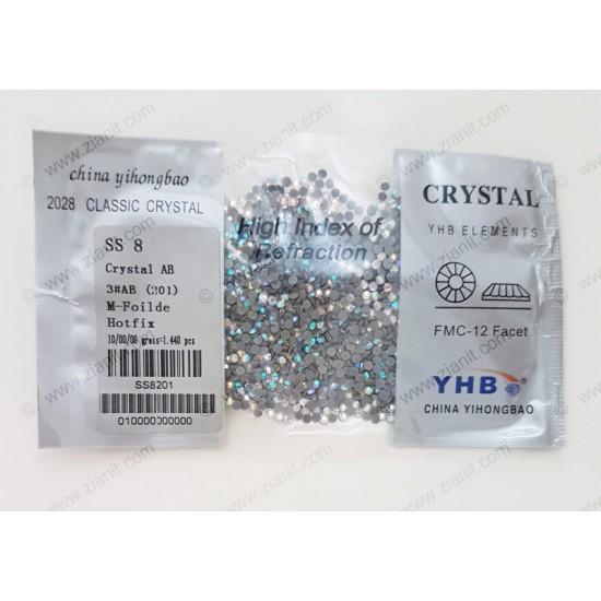 YHB Hotfix Crystals SS8 Crystal AB 1440 pcs