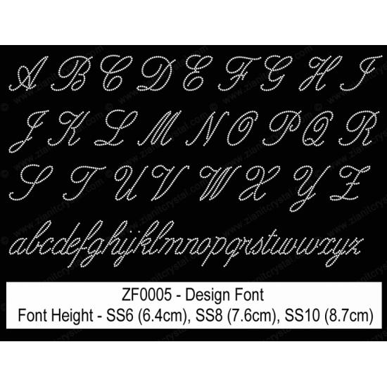 ZF0005 Rhinestone Design Font