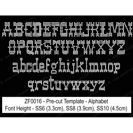 ZF0016 Rhinestone Font Pre-Cut Template Set