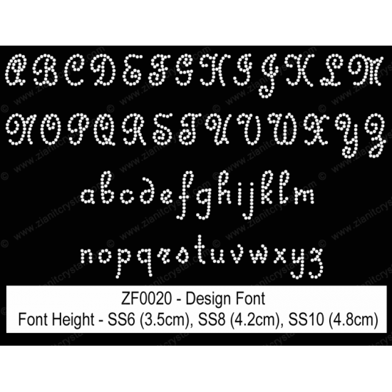 ZF0020 Rhinestone Design Font