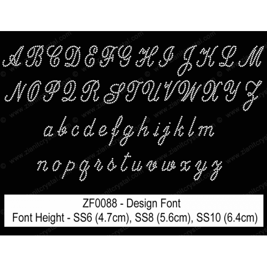 ZF0088 Rhinestone Design Font
