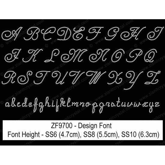 ZF9700 Rhinestone Design Font