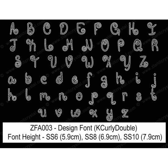 ZFA003 Rhinestone Design Font