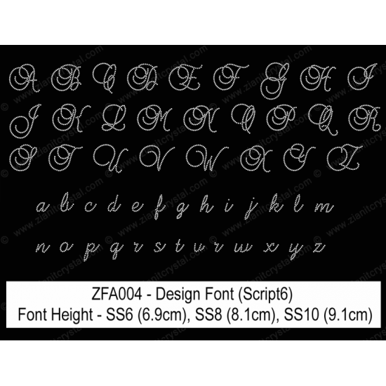 ZFA004 Rhinestone Design Font