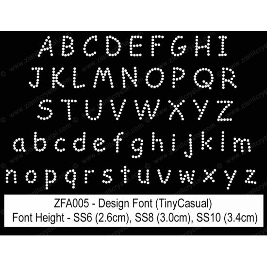 ZFA005 Rhinestone Design Font
