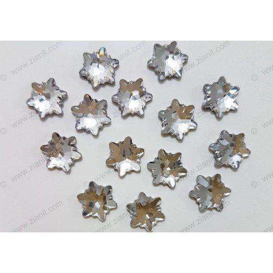 Swarovski 2753 Hotfix Crystals Edelweiss Shape Crystal Color 10mm