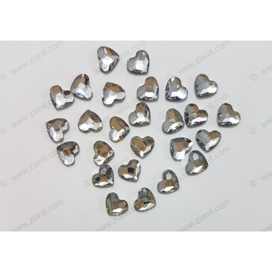 Swarovski 2808 Hotfix Crystals Heart Shape Crystal Color 6mm