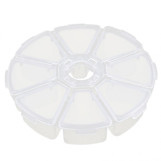 Round, 8 Compartment Hotfix Crystals Storage 10cm Diameter (Case Only)